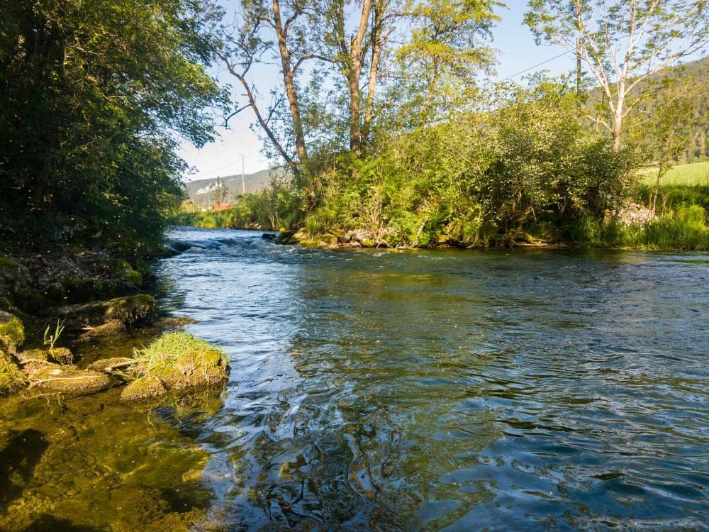 photo rivière la Suze parcours La Traversée UTJB